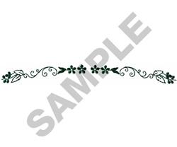 FLORAL BORDER #186 embroidery design