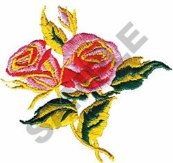 ROSES IN BLOOM embroidery design