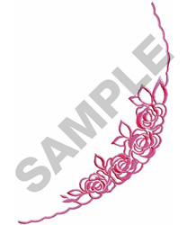 ROSES BORDER embroidery design