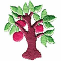 APPLE TREE embroidery design