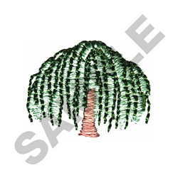 WEEPING WILLOW TREE embroidery design