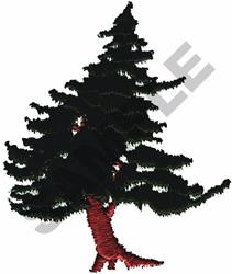 CEDAR TREE embroidery design