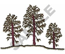THREE EVERGREEN TREES embroidery design