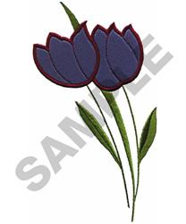 TULIPS APPLIQUE embroidery design