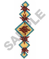 ROSE & DIAMOND BORDER embroidery design