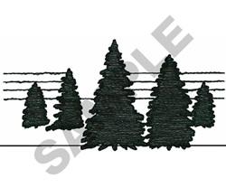 PINE TREE SCENE embroidery design