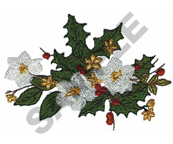 CHRISTMAS ROSE embroidery design
