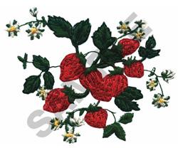 WILD STRAWBERRY VINE embroidery design