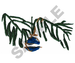 ORNAMENT ON TREE embroidery design