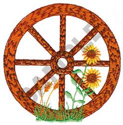 WAGON WHEEL embroidery design