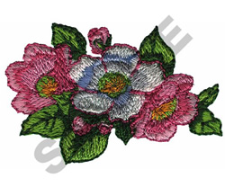PRAIRIE ROSES embroidery design