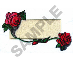 NAME DROP ROSES embroidery design