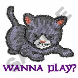 WANNA PLAY? embroidery design