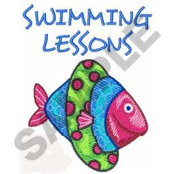 SWIMMING LESSONS embroidery design
