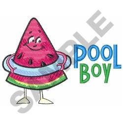 POOL BOY embroidery design