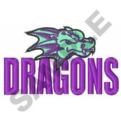 DRAGONS MASCOT embroidery design
