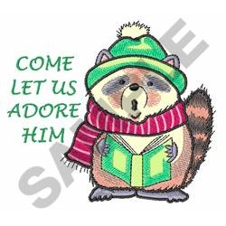 LET US ADORE HIM embroidery design