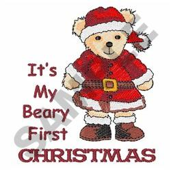 BEARY FIRST CHRISTMAS embroidery design
