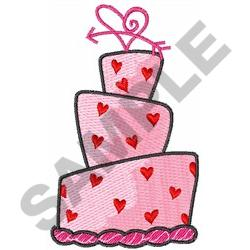 VALENTINES HEART CAKE embroidery design