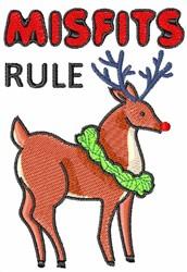 MISFITS RULE embroidery design