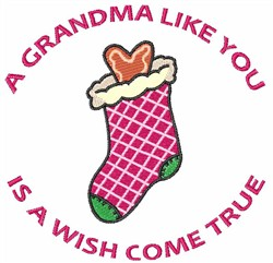 A GRANDMA LIKE YOU embroidery design