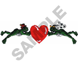 FROGS WITH HEART embroidery design