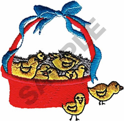 EASTER CHICKS embroidery design