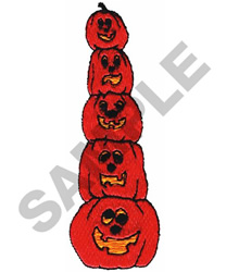 STACKED JACK-O-LANTERNS embroidery design