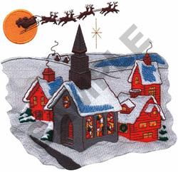 CHRISTMAS SCENE embroidery design