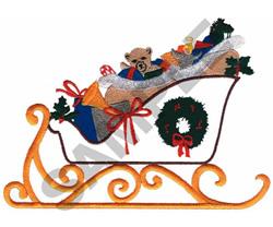 CHRISTMAS SLEIGH embroidery design