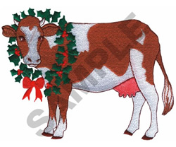 HOLLY COW! embroidery design