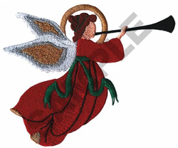 TRUMPETER ANGEL embroidery design