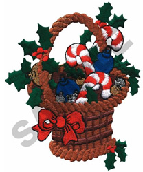 CANDY CANE BASKET embroidery design