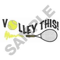 VOLLEY THIS embroidery design