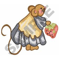 MOUSE WITH STRAWBERRY embroidery design