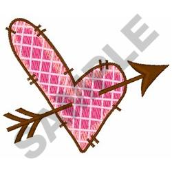 QUILTED HEART WITH ARROW embroidery design