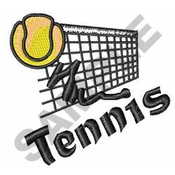 TENNIS BALL AND NET embroidery design