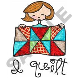 I QUILT embroidery design
