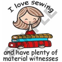 I LOVE SEWING embroidery design