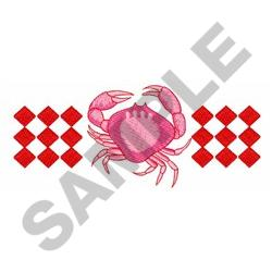 CRAB SEAFOOD BORDER embroidery design