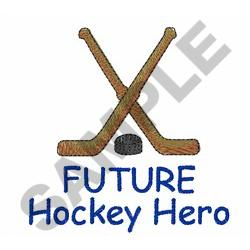FUTURE HOCKEY HERO embroidery design
