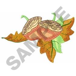 FALL LEAVES AND ACORN embroidery design