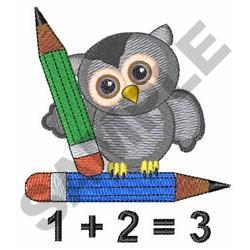 MATH EQUATION OWL embroidery design