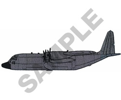 C-130 HERCULES embroidery design