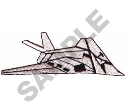 F 117A JET embroidery design