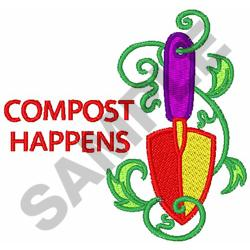 COMPOST HAPPENS embroidery design
