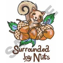 SURROUNDED BY NUTS embroidery design