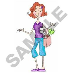 BUSY MOM embroidery design