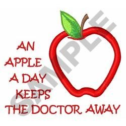 APPLE A DAY APPLIQUE embroidery design