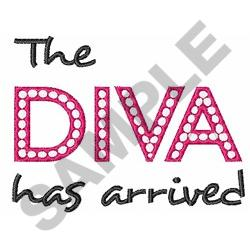 DIVA HAS ARRIVED embroidery design